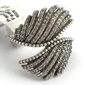 Pandora Majestic Feathers Ring, Sterling Silver 5